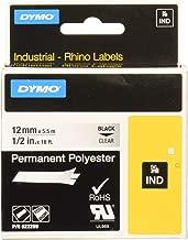 Dymo Label, DYMO Rhino, Clear 1/2