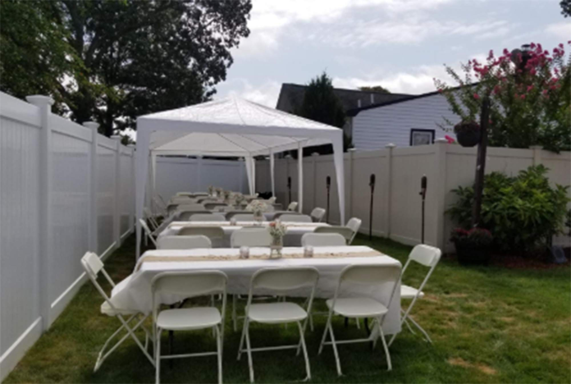 GOJOOASIS 10'x30' Wedding Party Canopy Tent Outdoor Gazebo All Metal Connector