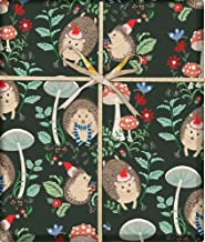 Holiday Hedgehogs Fairy Tale Gift Wrapping Paper Flat Sheet - 24