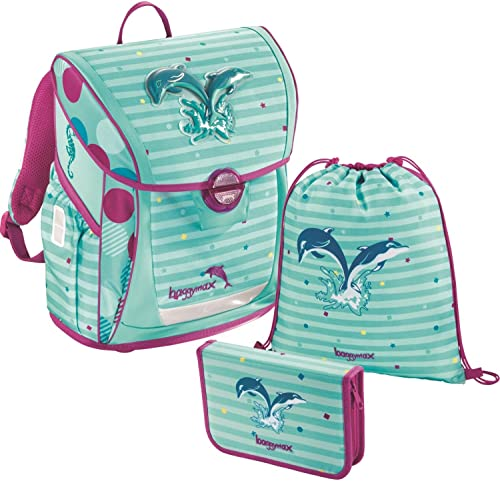 baggymax Schulranzen-Set Fabby 3-tlg Dolphin bm dolphin