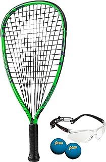 HEAD MX Hurricane Pack – Beginners Pre-Strung Racquetball Racket Set w/ Goggles..