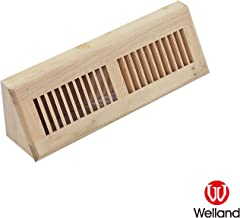 WELLAND15 Inch White Oak Baseboard Vents Hardwood Vent Baseboard Diffuser Wall Register,Unfinished Vent.