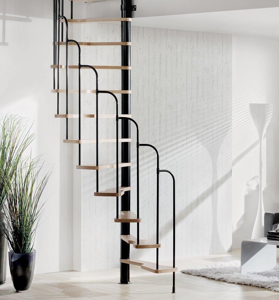 Treppen Intercon – Escaleras de caracol Skidoo 120 x 60 cm o 140 x 70 cm hasta 292 cm de altura de planta, negro: Amazon.es: Bricolaje y herramientas