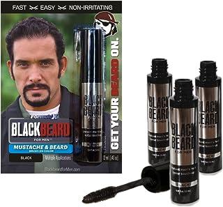 Blackbeard for Men Formula X - Instant Brush-on Beard & Mustache Color - 3-pack (black)