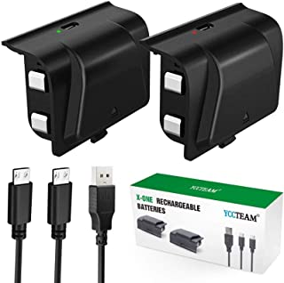 Xbox One Battery Pack Rechargeable, YAEYE Xbox One Controller Charger with 2pcs 1200 mAh Rechargeable Batteries for Offica...