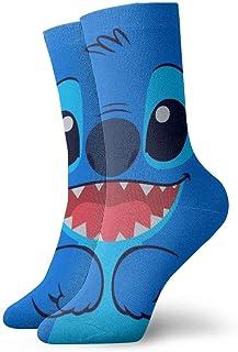 Lsjuee Calzini Unisex Cute-Stich-Art Activewear Cuscino Sport Socking