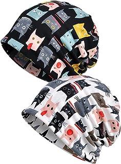 Luccy K Womens Cotton Chemo Hat Beanie Scarf - Beanie Cap Bandana for Cancer