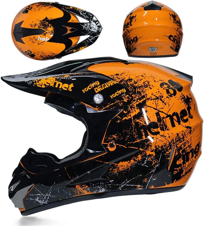 casque enfant avec gants lunettes de protection masque de protection pour downhill Bike ATV BMX Casque de motocross//moto cross S