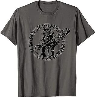 Sometimes Anti-Social Always Anti-Fascist Bear With Club T-Shirt