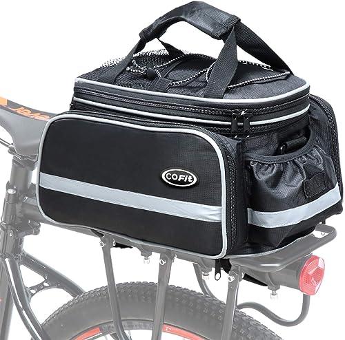 COFIT Sacoche de vélo 25 L/68 L/80 L pour porte-bagages, sacoche de selle extensible avec grande capacité, étanche, p...