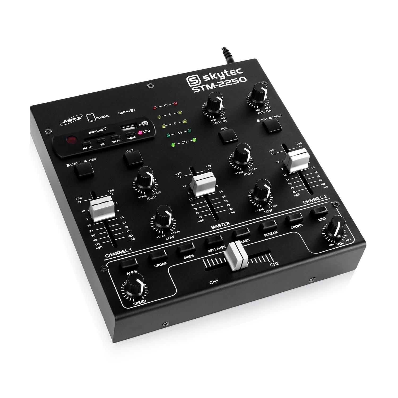 Skytec STM-2250 Mesa de mezclas 4 canales USB SD MP3: Amazon.es ...
