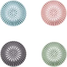 مصفاة شعر من السيليكون المتين، سهلة التركيب والتنظيف لفتحة تصريف حوض الاستحمام والحمام والمطبخ، عبوة من 4 قطع من زيرو فاكتوري