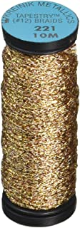 Kreinik No.12 Metallic 10m Tapestry Craft Braid, 11-Yard, Antique Gold