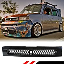 Fits for 2004-07 Scion XB Glossy Black JDM BB Style Front Hood ABS Grill Grille W/Metal Mesh