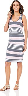 Ripe Maternity Women's Stripe Nursing Dress