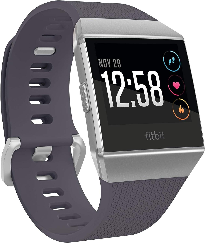 Fitbit Ionic Health & Fitness Smartwatch, Blau-Grau   Silbergrau,Einheitsgre
