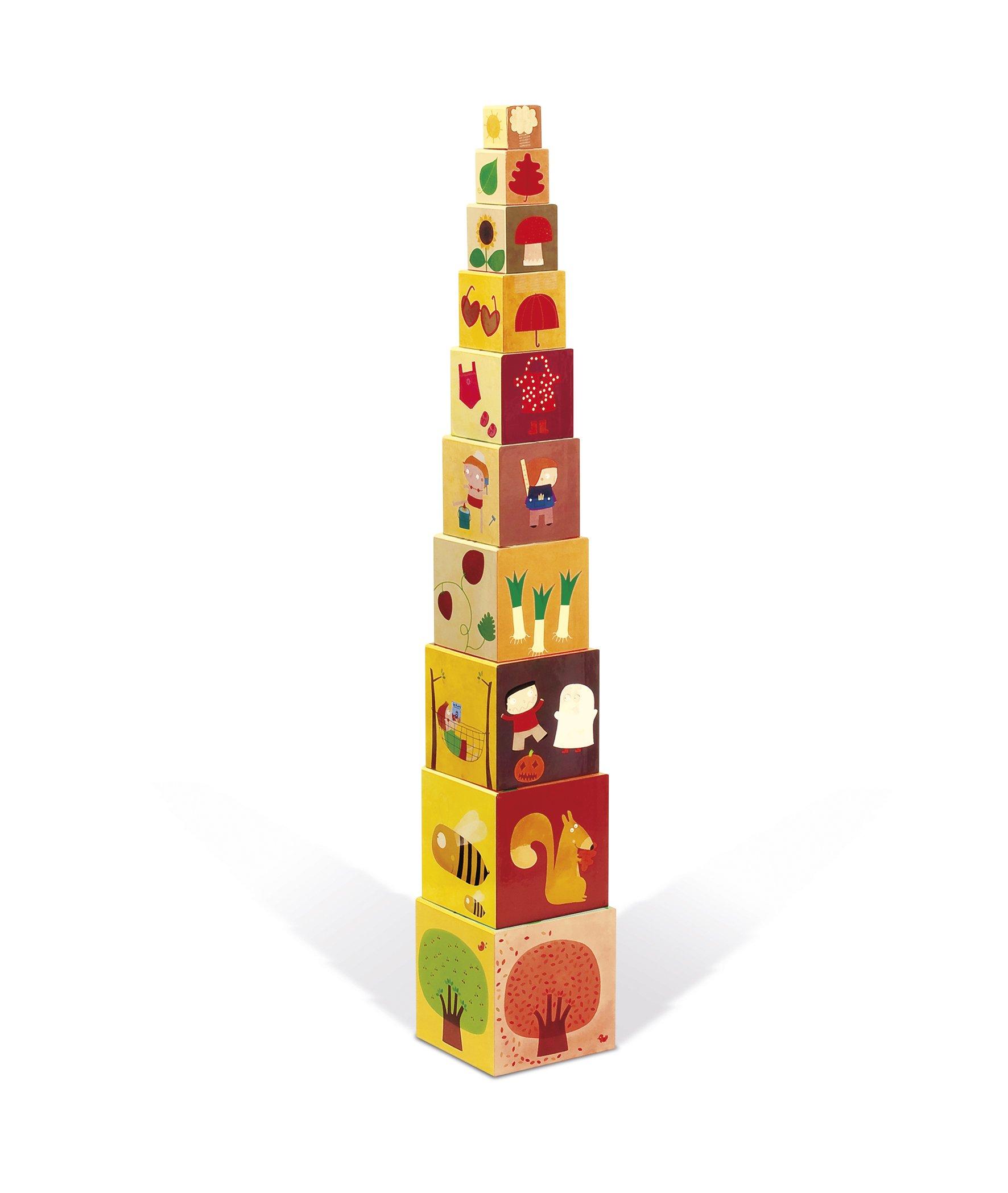 Janod - Pirámide Cuadrada, Las 4 estaciones (J02917): Amazon.es: Juguetes y juegos