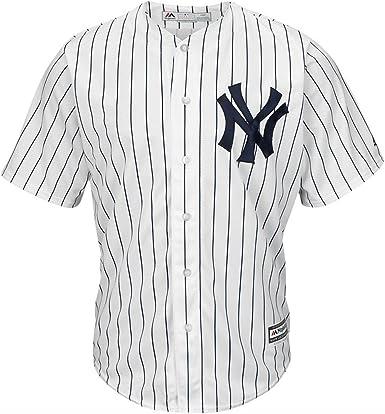 Majestic Athletic New York Yankees Cool Base MLB Replica Jersey Pinstripe Baseball Trikot Tee T-Shirt