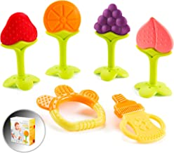 Baby Teething Toys for Newborn Infants (6-Pack) Freezer Safe Infant and Toddler Silicone..