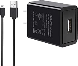 HZONE Kindle Fire Fast Charger, [UL Listed] HZONE AC Adapter 2A Rapid Charger with 5.0 Ft Micro-USB Cable for Kindle Fire HD 7 8 10 Tablet, HDX 6