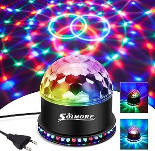 LED Discobal, SOLMORE 51LEDs 12W 7 kleuren discolamp feestverlichting RGB-lichteffect podiumverlichting feestverlichting d...