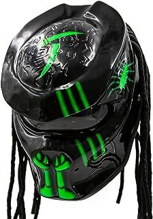 Predator Motorcycle Helmet - DOT Approved - Unisex - Alien Green Chaos
