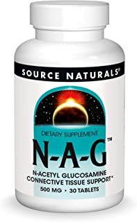 Source Naturals N-A-G 500 mg N-Acetyl Glucosamine for Joint Support and Intestinal Lining - 30 Tablets
