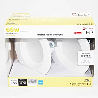 Utilitech Pro 2-Pack 65-Watt Equivalent Led Recessed Retrofit Downlight (Soft White)