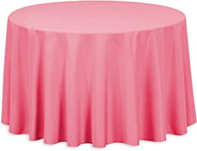 LinenTablecloth Round Polyester Tablecloth 108 Inch