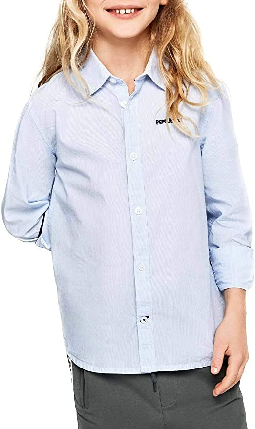 Pepe Jeans- Camisa PB301696 Edward 551 Blue- Camisa ...