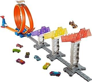 Hot Wheels DJC05 Action Super Score Speedway auto speelbaan, track set met accessoires en 2 starters, incl. 1 speelgoedaut...