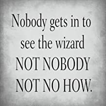 Nobody Gets in to See Wizard Not Nob Sign Decor Metal Sign 8 X 12 Inch
