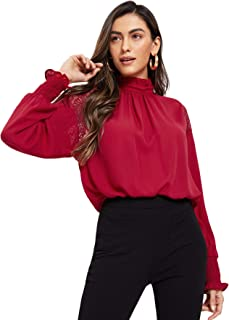 Best women's long sleeve red blouse Reviews