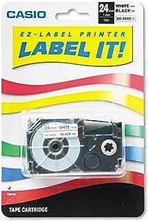Casio XR24WES Casio Labeler Tape,24MM, Black/White