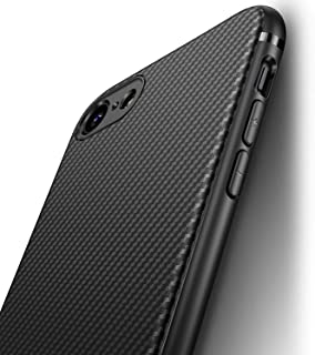 comprar comparacion J Jecent Funda iPhone SE 2020 / iPhone 8 / iPhone 7 Textura Fibra de Carbono Carcasa Ligera Silicona Suave TPU Gel Bumpe...
