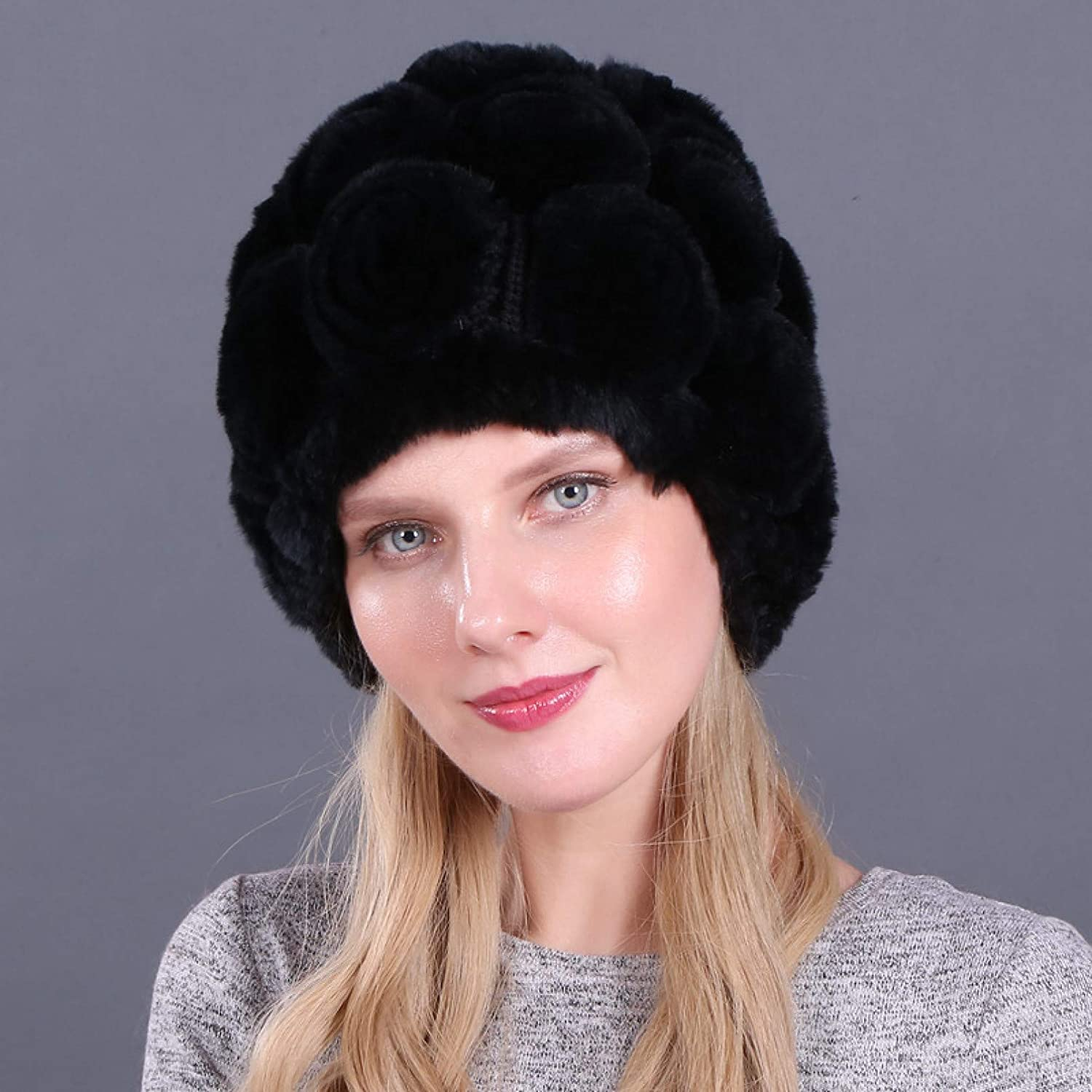 BELEMON Selling rankings Women Winter All items free shipping Hat Thick Warm Ladies F Rabbit Fur Real