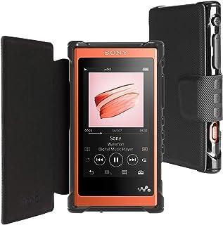 inorlo PU Leder Flip Tasche Schutzhülle für Sony Walkman NW A55L, MP3 Player Etui Case Cover mit Magnetverschluss + Displayschutzfolie (Schwarz)
