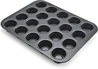 Chicago Metallic Professional 20-Cup Tea Cake Pan, 14-Inch-by-10.5-Inch