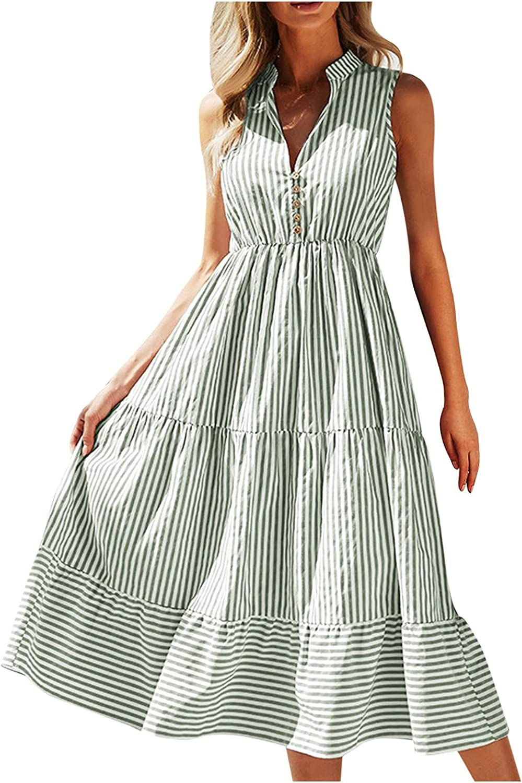NBSLA Womens Boho Dresses Flowy Maxi Dresses for Women Casual We