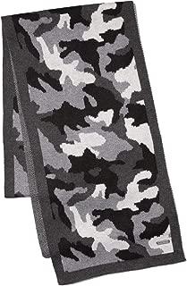 MICHAEL KORS Mens Camouflage Scarf - Black/White