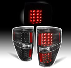 For Black 09-14 Ford F-150 Styleside Pickup Truck Rear LED Tail Lights Brake Lamps Replacement Pair