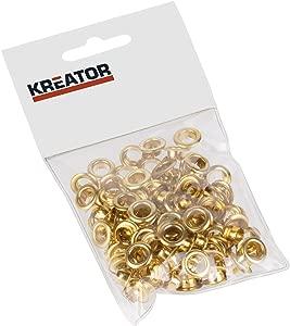 Kreator 100 Piece 7mm Easy Press Grommet Brass Eyelet Set KRT616105