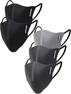 Gear OXYMAX G95 Adult Unisex Reusable & Washable 6 Layer NABL Certified Outdoor Protection Face Mask (Pack of 5) Black, Li...