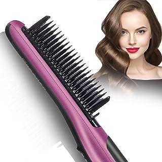 Fast Heating Hair Straightener Brush - Anti Scald Ceramic Straightener Brush,Anti Scald Ceramic Straightener Brush with 6 ...