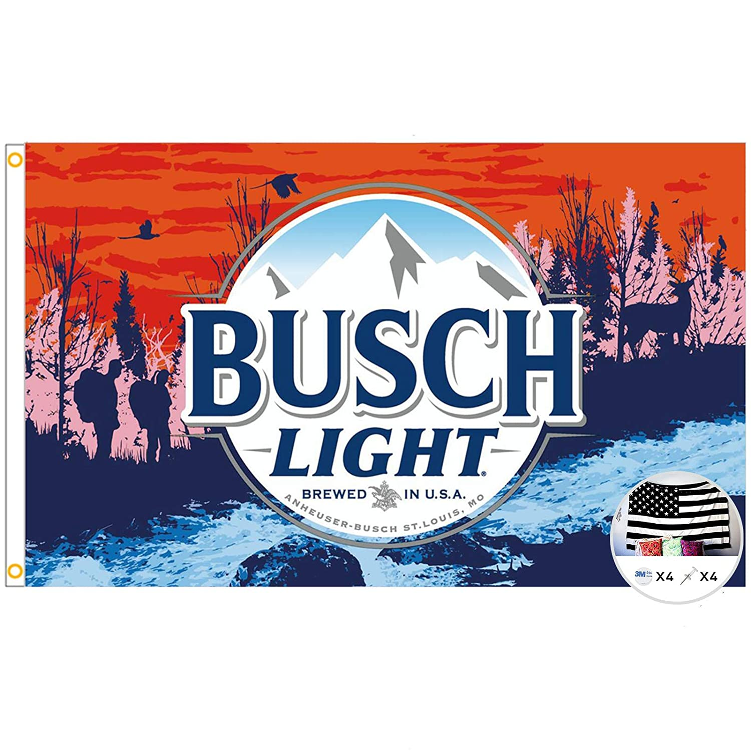 Flag for Beer 3x5 Feet Sunset Hikers Banner,Cool Beer Flags Funny Poster UV Resistance Fading & Durable Man Cave Wall Flag with Brass Grommets for College Dorm Room Decor,Outdoor,Parties,Gift
