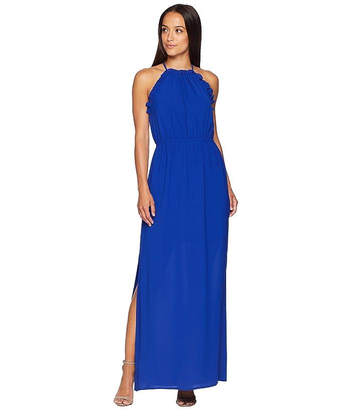 c5a04643258499 Adrianna Papell Gauzy Crepe Ruffle Maxi Dress at 6pm