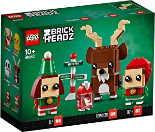 LEGO BrickHeadz Christmas Reindeer, Elf, and Elfie 40353 Holiday Building Kit (281 Pieces)