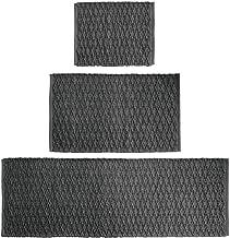 mDesign Soft 100% Cotton Luxury Rectangular Spa Mat Rugs, Water Absorbent, Diamond Design - for Bathroom Vanity, Tub/Showe...