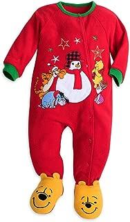 Disney Store Winnie The Pooh Blanket Sleeper Christmas Holiday Fleece Red 2017