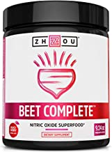 Zhou Nutrition Beet Complete, Nitric Oxide Superfood Powder Preworkout Formulated to Boost Performance & Heart Health - 9....